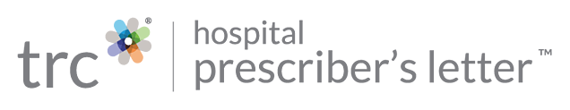 TRC | Hospital Prescriber's Letter
