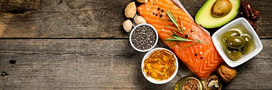 selection-of-healthy-unsaturated-fats-omega-3-picture-id1126186769