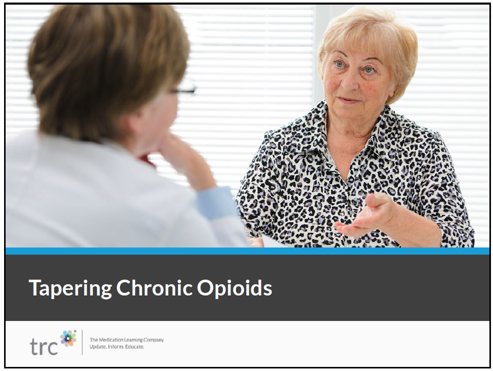 Tapering Chronic Opioids