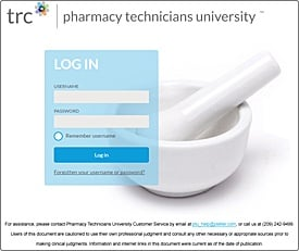 Login: Pharmacy Technicians University (version 2)
